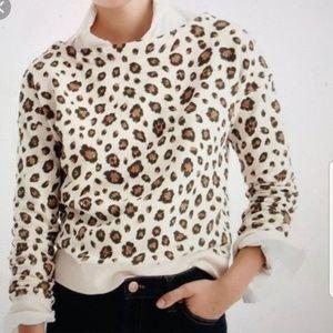 [J.Crew] Tan Leopard Print Sweatshirt